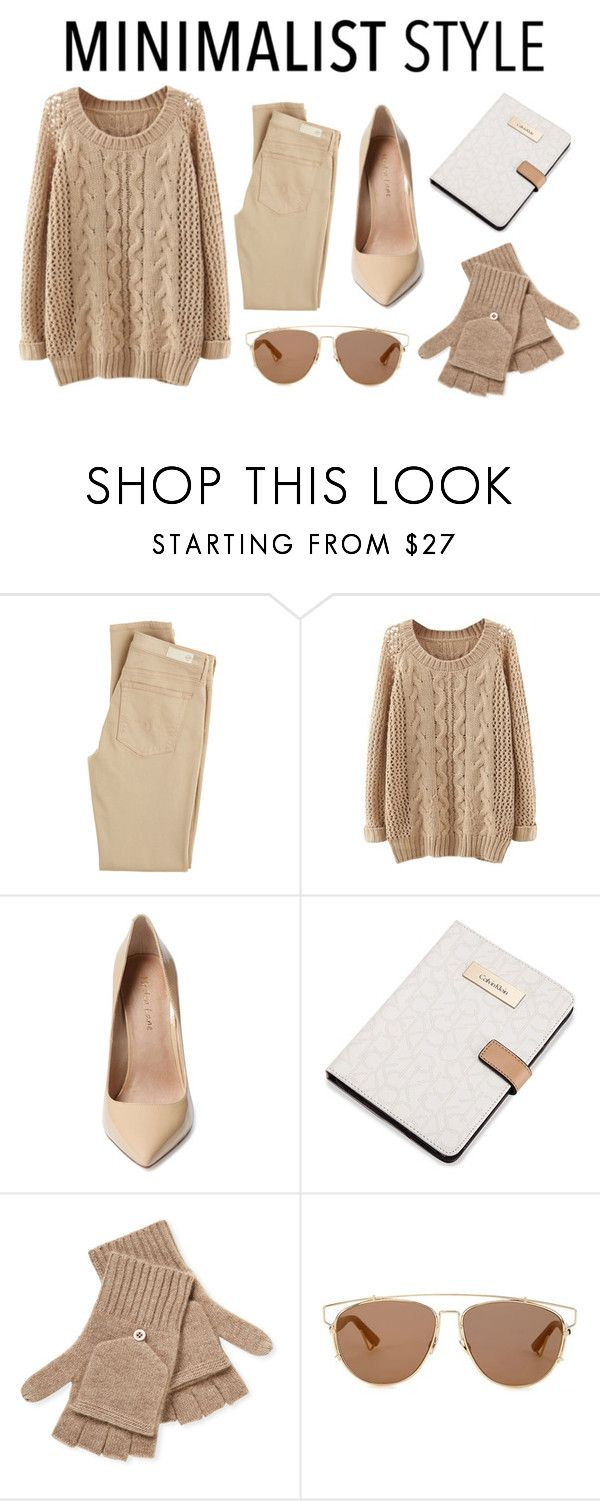 """""""Monochromatic Minimalism"""" by themodernalice on Polyvore featuring AG Adriano Goldschmied, Maiden Lane, Calvin Klein, Qi Cashmere, Christian Dior and modern"""