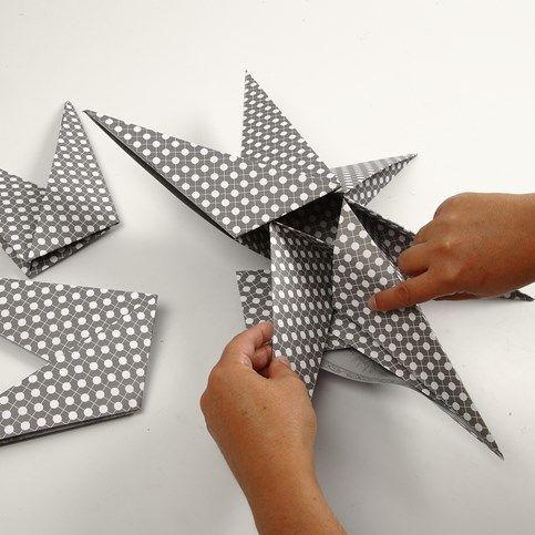 Sterne aus quadratischem Papier mit 7 Zacken |DIY Anleitung