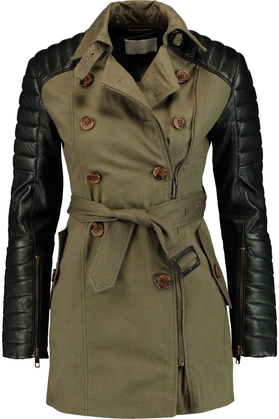 Walter Baker Jacket Olive trench coat, Army green coat