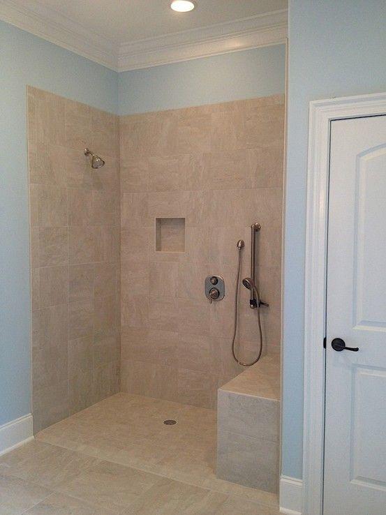 Wheelchair accessible shower in master bath   Bathrooms   Pinterest ...