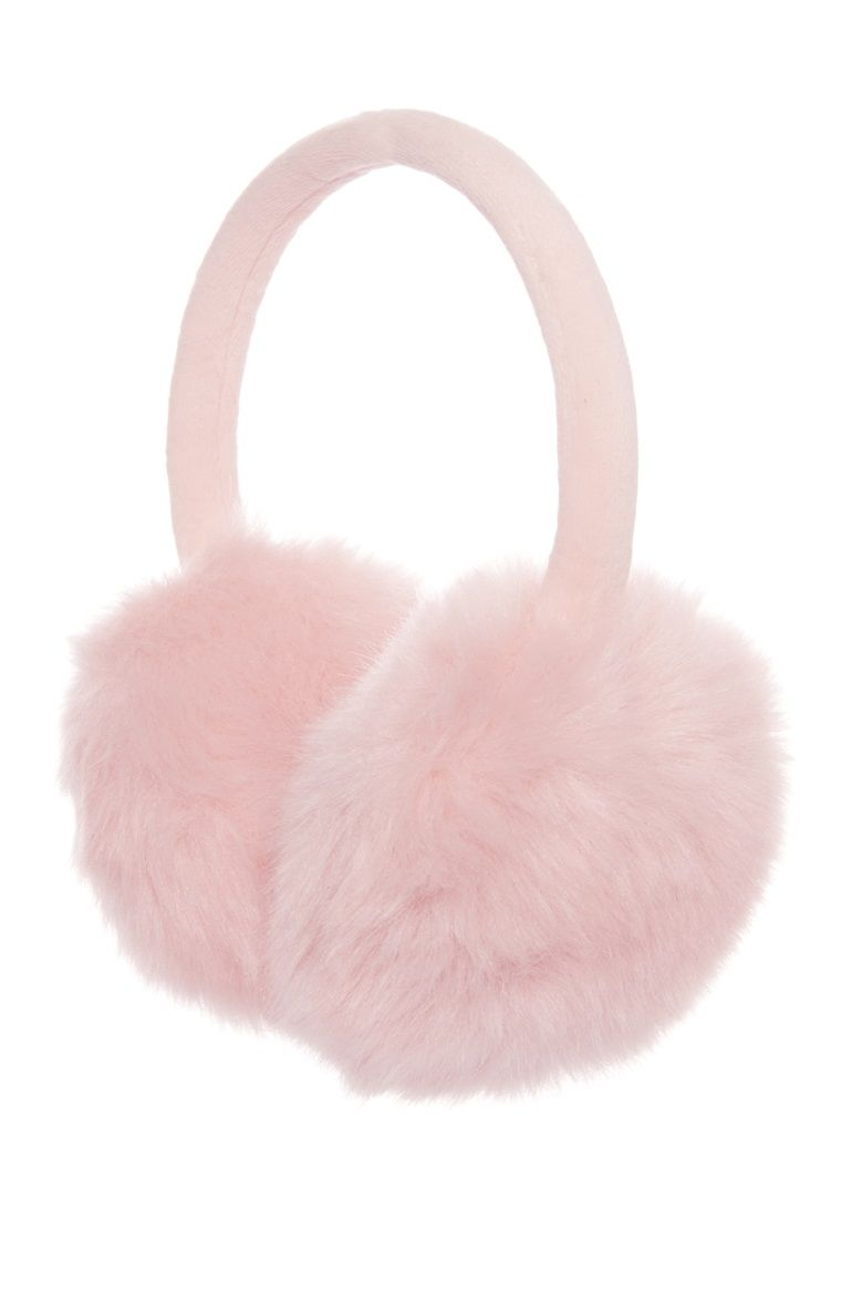 99ee4d4ffa5 faux fur only. How cute are these  Pink fluffy ear muffs from Primark!