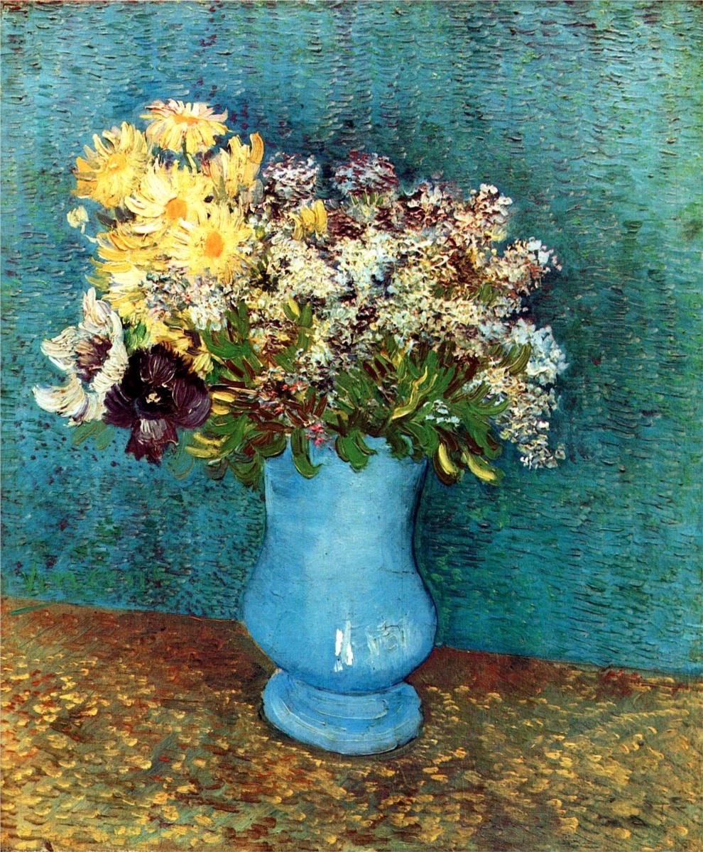 Vincent van Gogh ~ Vase with Lilacs, Daisies and Anemones, 1887