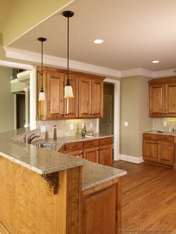 Kitchen Ideas Medium Brown Cabinets | Brown kitchen ...