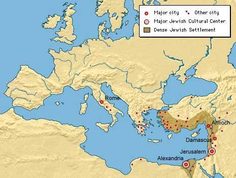 1st Century World Map.Map Of The Jewish Diaspora 1st Century Ce Jewish Virtual Library
