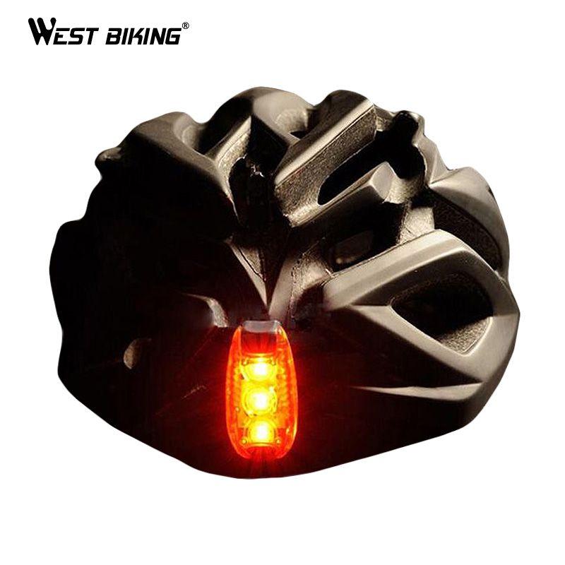 OVEST BIKE Fanali Posteriori Della Bicicletta Spie Portatile Può essere Montato sul casco Outdoor Ciclismo Zaino In Esecuzione Luci Casco