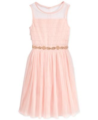 7943f70f2bafe Sequin Hearts Girls' Illusion Dress | macys.com | What little girls ...