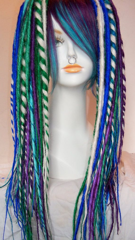 2 Extra Long And Layered Synthetic Dread Falls Dreadlocks With