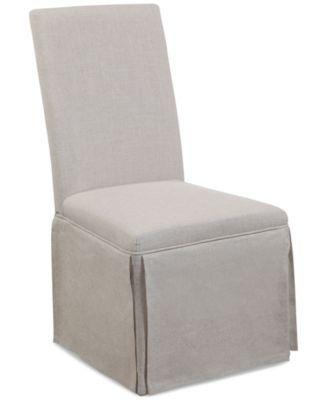 Skirted Parsons Chair Quick Ship Macys Com Parsons Chairs Modern Dining Chairs Dining Chairs
