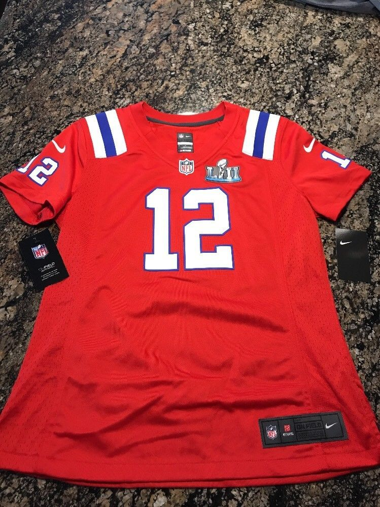 new product 25ae0 7e393 Details about Tom Brady #12 New England Patriots Football ...