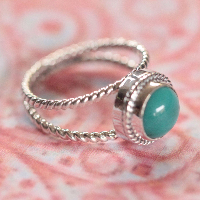 Boho Turquoise Ring in Sterling Silver, Gift for Her, Boho Rings ...