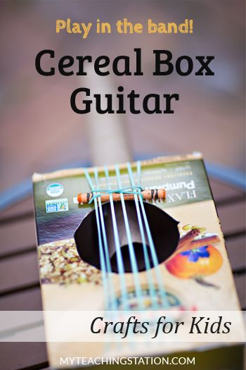 How To Make A Simple Cereal Box Guitar For Kids Cereal