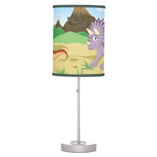 T-Rex Tyrannosaurus & Triceratops Dinosaur Desk Lamp #dinosaurlamp #kidsroom