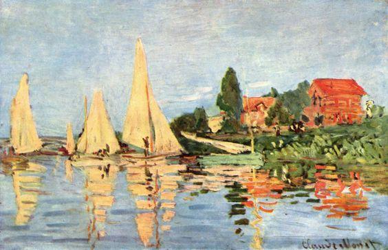 Regate ad Argenteuil, Claude Monet, 1872, Museo D'Orsay, Parigi, olio su tela