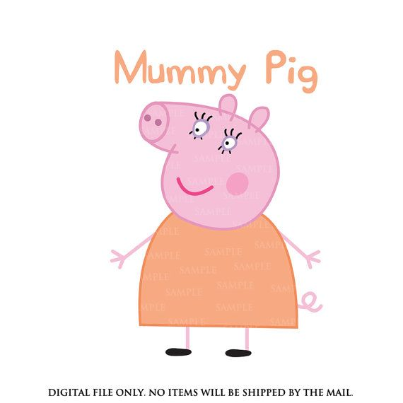 d9acfd2170d Mummy pig Peppa pig iron on transfer Peppa pig by lauraspartyshop ...