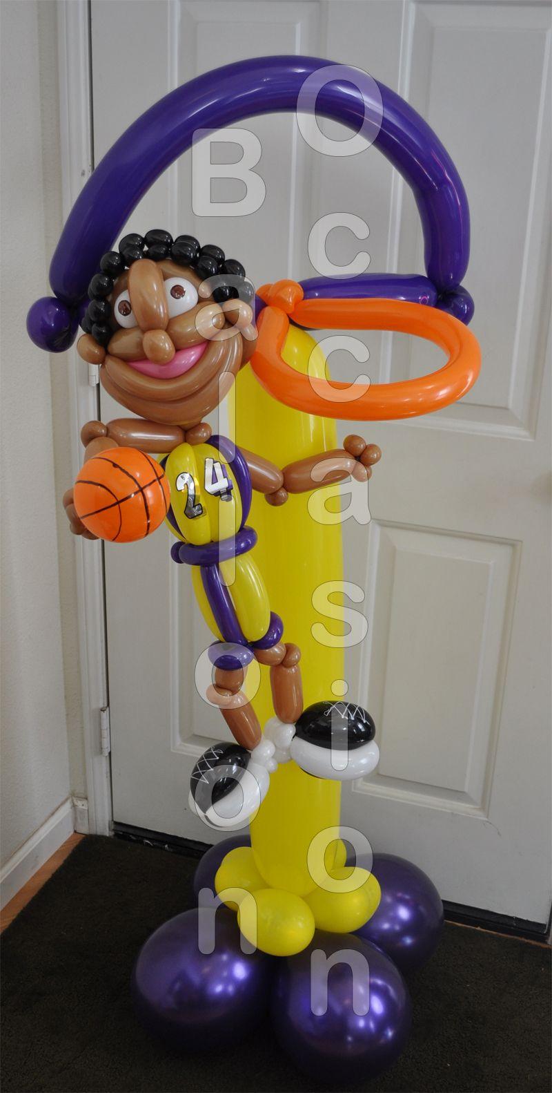 Kobe Slam Dunk Birthday! (With images) Football balloons