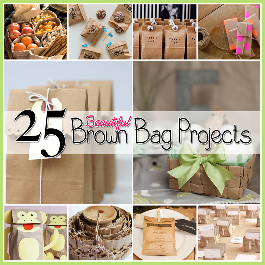 25 Creative & Fun Brown Bag Crafts | The Cottage Market #paperbagcrafts