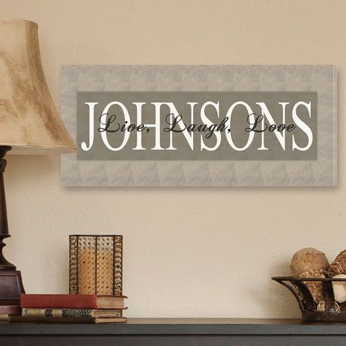 Personalized Family Name Canvas Art 5 Designs To Choose From Personalized Canvas Print Personalized Wall Art Personalized Canvas Art