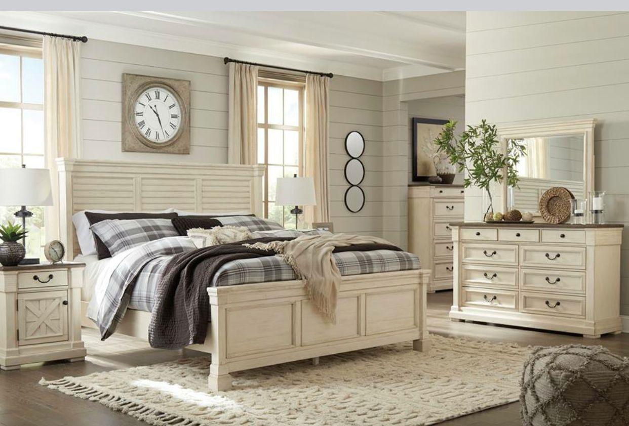 Beautiful ashley furniture bedroom suite cream farmhouse