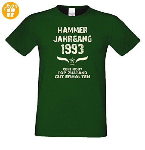Geschenkidee zum 24. Geburtstag :-: Geschenk Herren Geburtstags-Sprüche-T- Shirt mit Jahreszahl :-: Hammer Jahrgang 1993 :-: Geburtstagsgeschenk für…