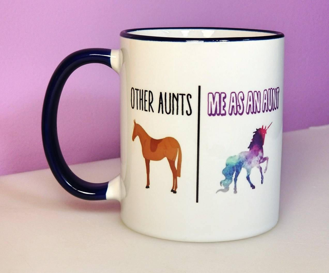 aunt mug unicorn aunt funny aunt gift aunt gift funny mugs aunt christmas gift unicorn aunt mug christmas gifts for aunts by paggcreations on - Christmas Gifts For Aunts