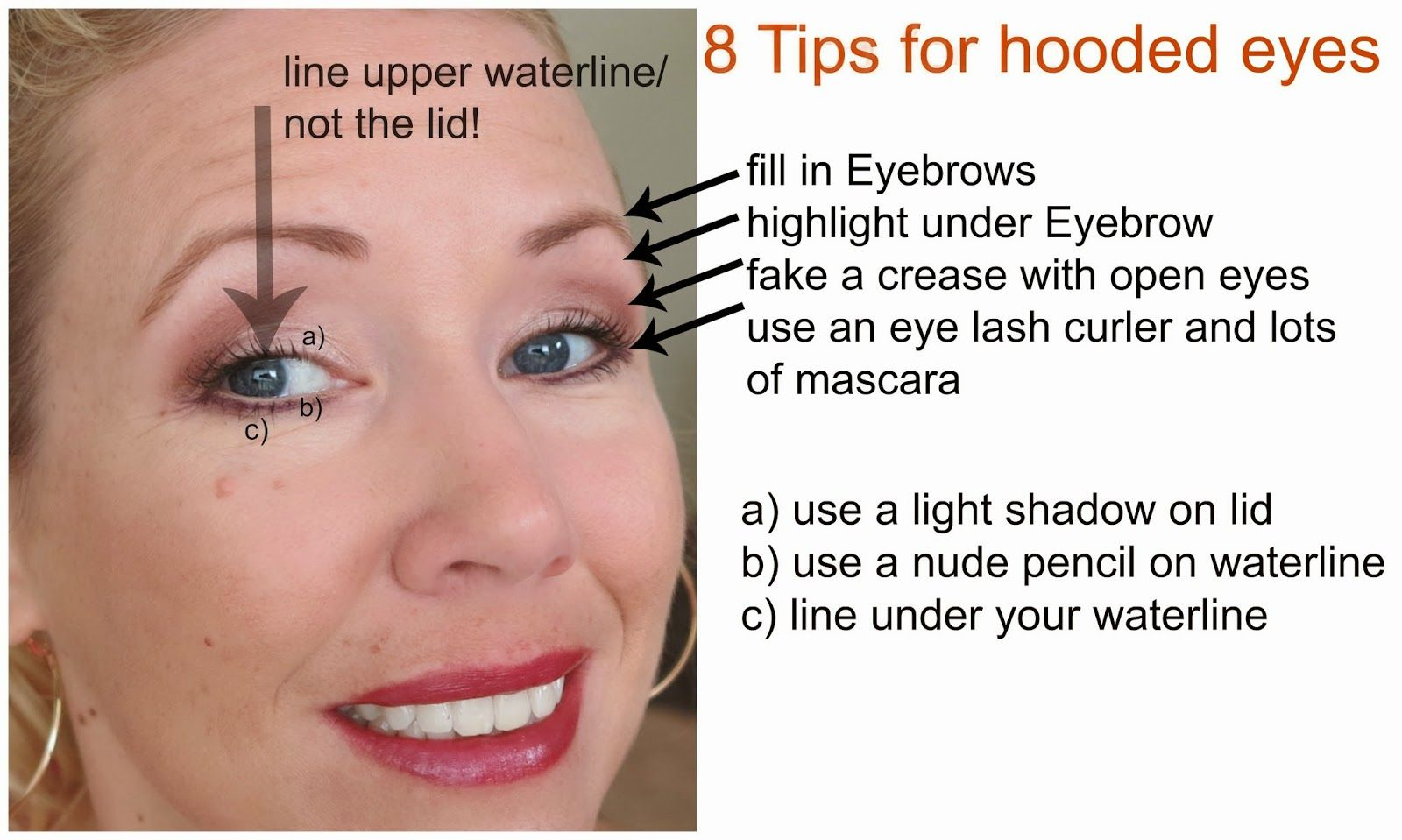 8 Tips on how to apply eye shadow on hodded eyes! Beauty