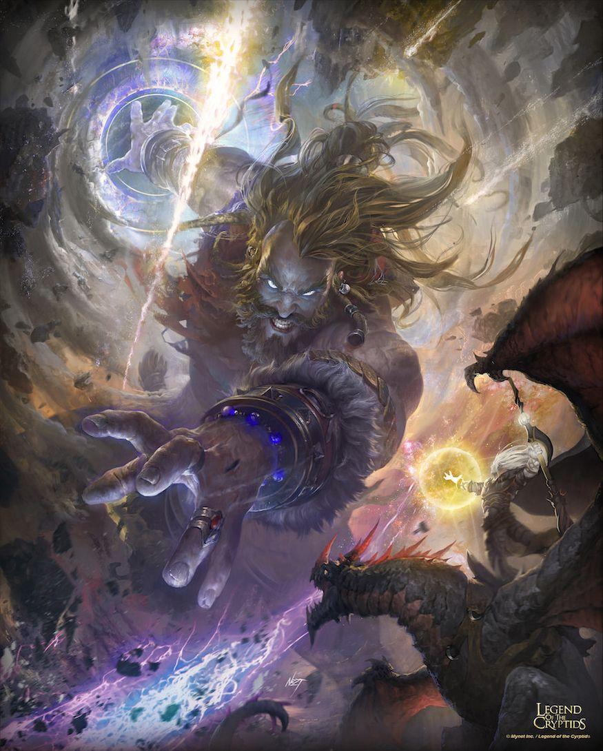 Artist Nestor Ossandon aka Nezt Title Gods battle