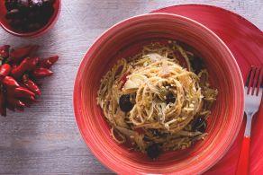 Spaghetti integrali con carciofi e mollica