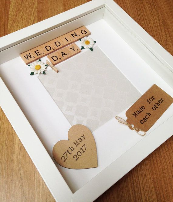 Wedding Gift- Personalised Scrabble Photo Frame- Just Married- Free ...