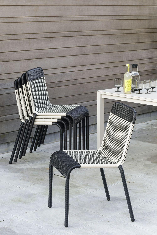 Chaise De Jardin Tobago En Resine Marron Fonce Blanc Casse Furniture Outdoor Chairs Home Decor