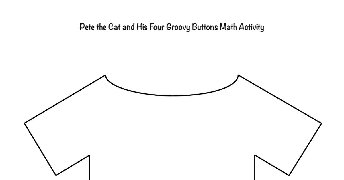 Pete The Cat Shirt Templatepdf Art Class Pete The Cat Crafts