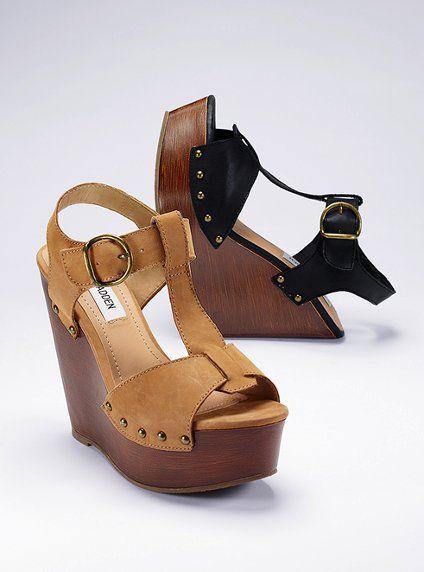 c70153aaede T-strap Wedge Sandal - Steve Madden - Victoria's Secret | I ♡ shoes ...