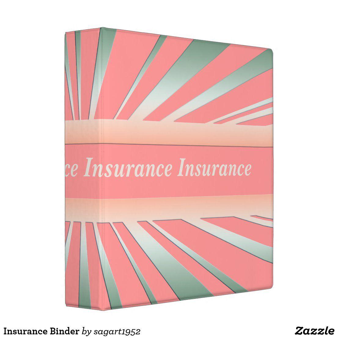 Insurance Binder Zazzle Com In 2020 Shop Insurance Term Life