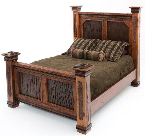 This incredible barnwood bed typifies rustic elegance yes - Rustic elegant bedroom furniture ...