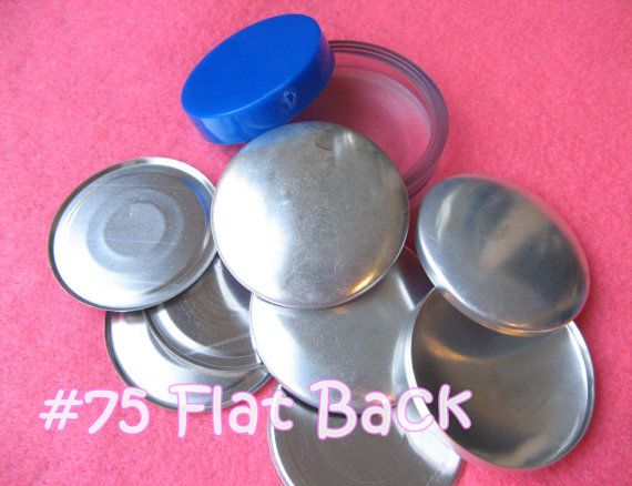 Covered Button Kit 1 7 8 Inch Flat Back Size 75 By Cutiestuffs 4 00 Diy Buttons Covered Buttons Starter Kit