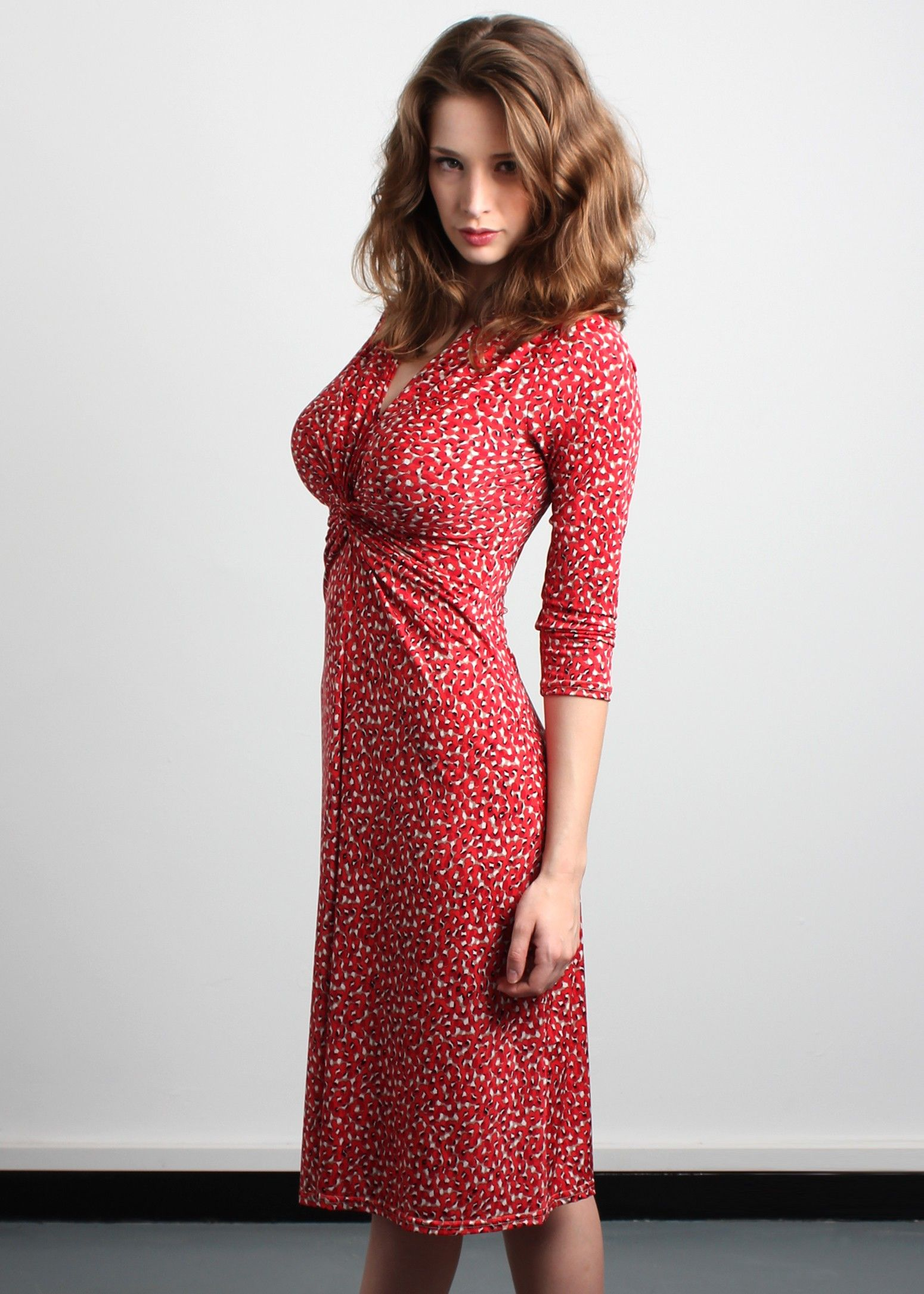 the berry dress which fits and flatters with big