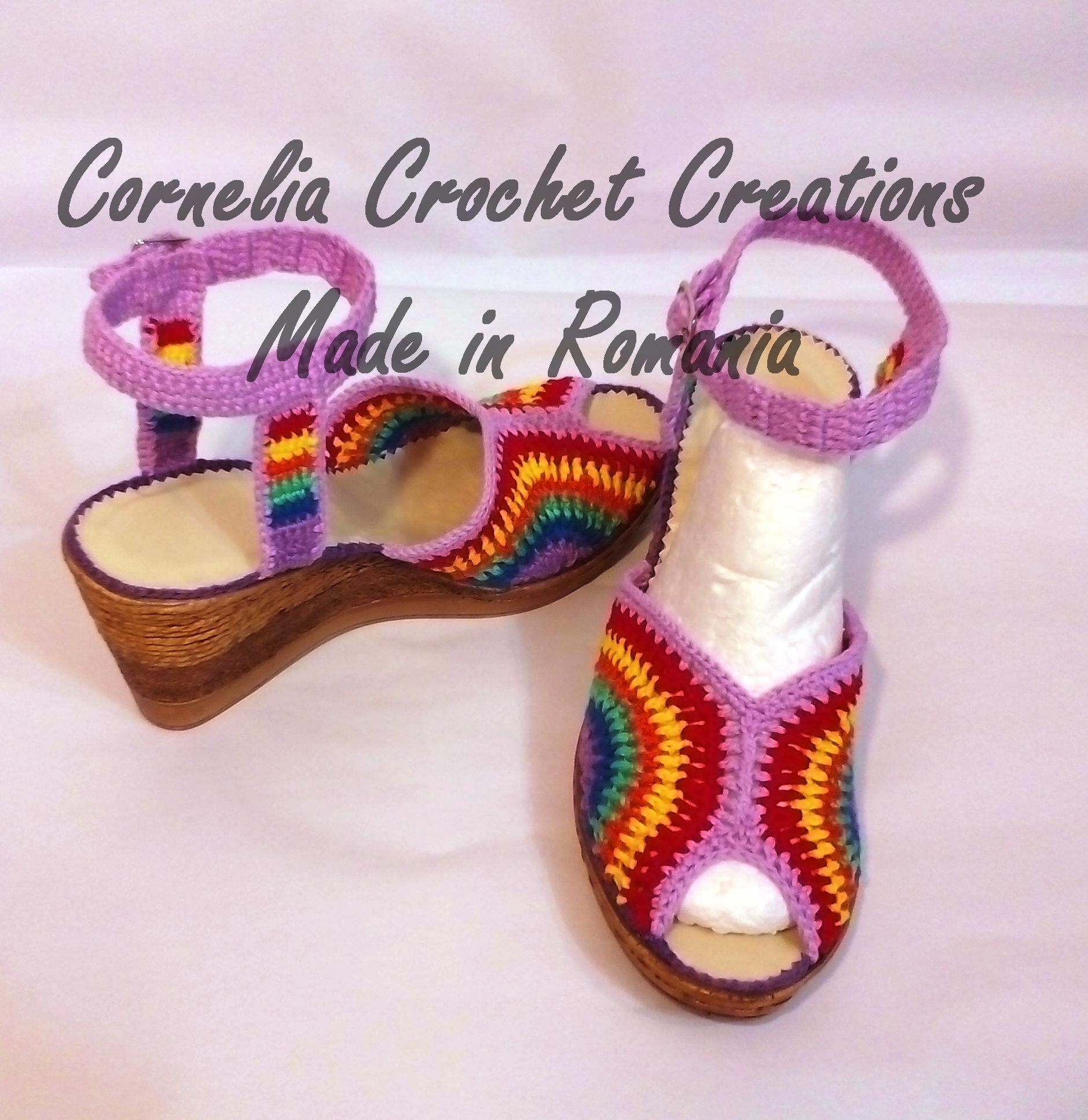 Pin von Ion Cornelia auf Sandale, pantofi, cizme ...crosetate ...