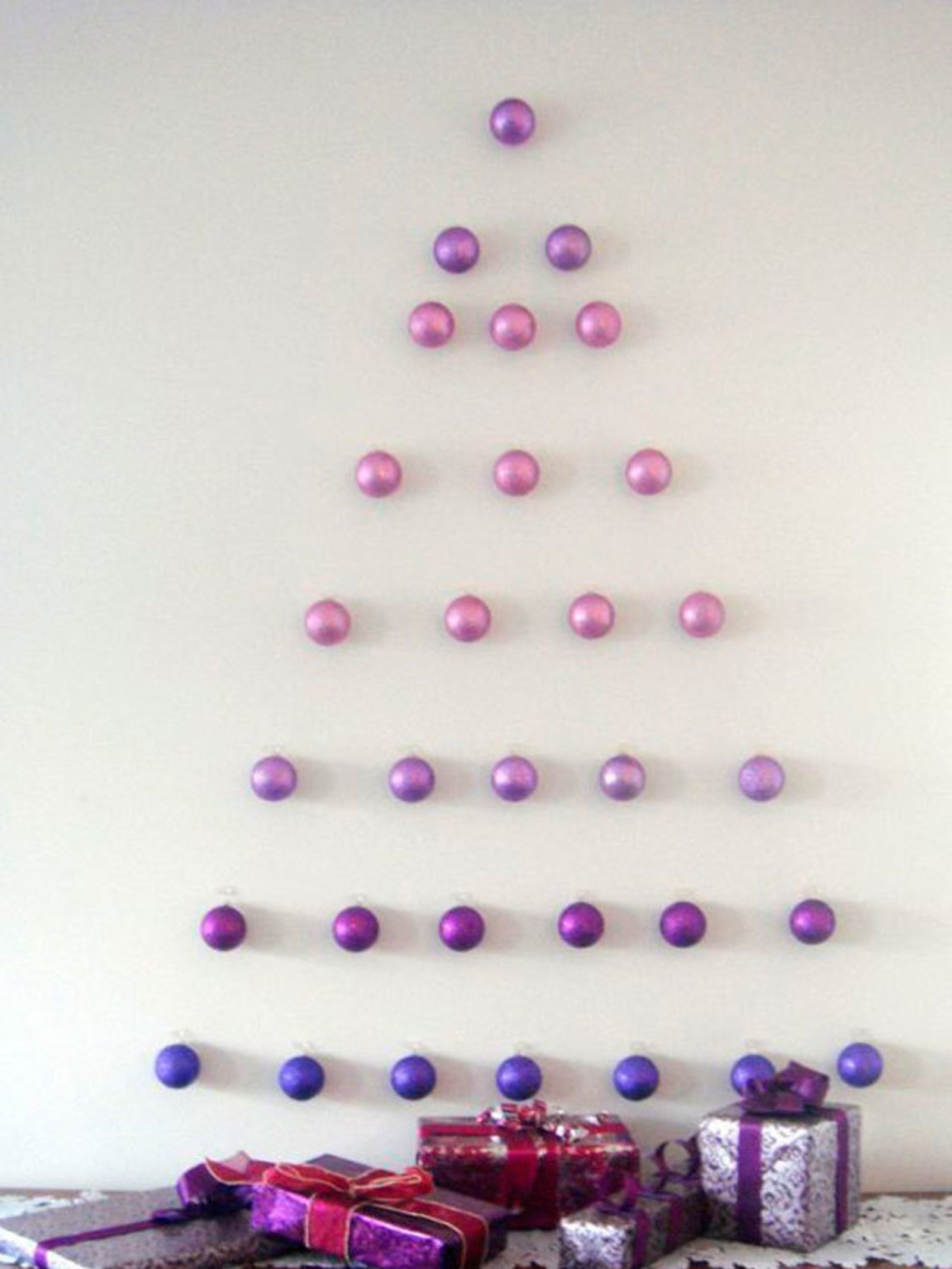 Wall Christmas Trees Are Perfect For Small Spaces And Can