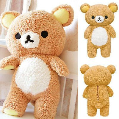 55cm New Stuffed 21 Kawaii Gift Rilakkuma Relax Bear Pillow Plush Toy Doll Chic  | eBay #bearplushtoy