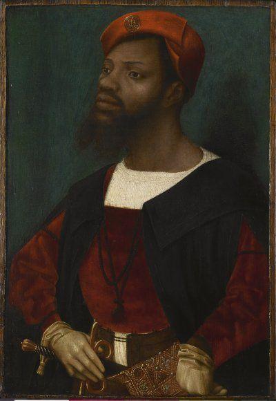 'Portrait of an African man' (c.1520-30) by Dutch Renaissance painter Jan Mostaert (1475-1555). collection: Rijksmuseum. via codart