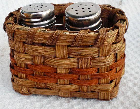 Salt & Pepper Basket Handwoven by basketsbyrose on Etsy, $12.00