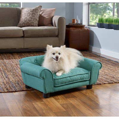 Enchanted Home Pet CO254915TEAL Sydney Linen Tufted Pet Sofa *** Click affiliate link Amazon.com on image to review more details.