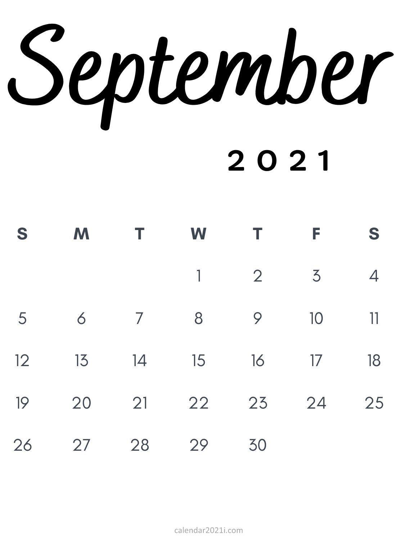 September 2021 Calendar Vertical Images
