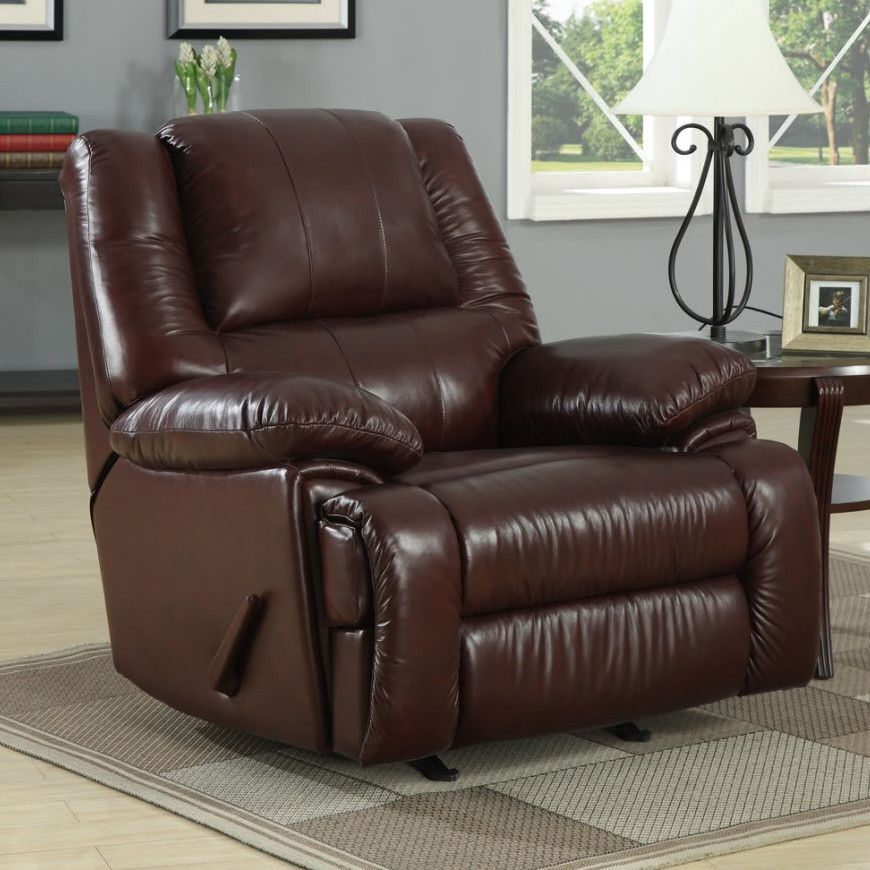 Cascadia Leather Chaise Recliner Contemporary Recliners Leather Recliner Leather Chaise