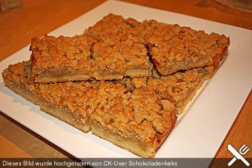 Apfelkuchen mit Streuseln vom Blech, ein schönes Rezept aus der Kategorie Kuchen. Bewertungen: 334. Durchschnitt: Ø 4,5.