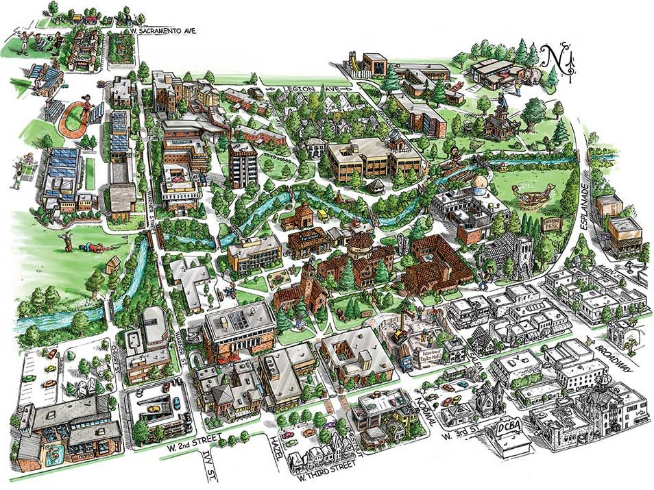 Chico State Map on