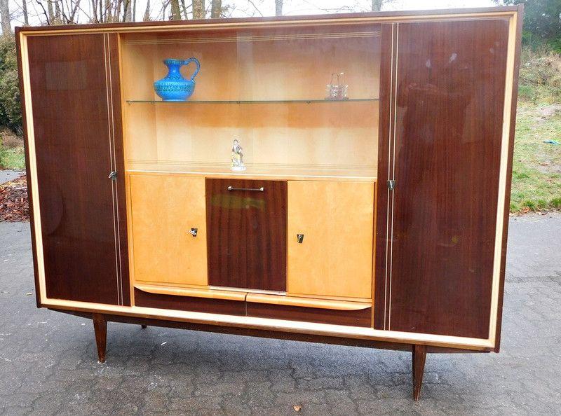 50er Jahre Möbel großer schrank 50 50 er jahre vitrine ds troedel auf dawanda com