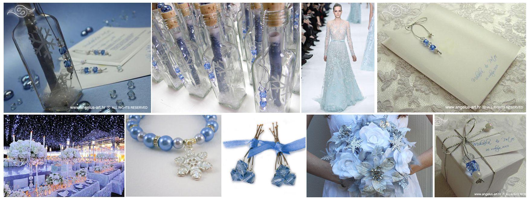 BLUE winter wedding collage http://angelus-art.net/220/pozivnica-za-vjencanje-poruka-u-boci-snjezna-bajka