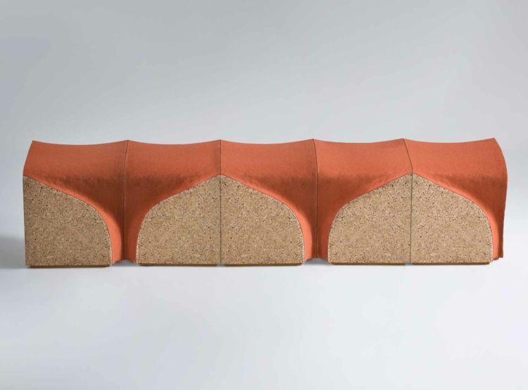 Italienische Möbel Designer Alessandro Isola Designermöbel Eroded Stools  Kork