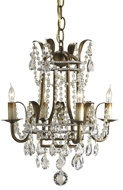 Currey and Company - Laureate Mini Chandelier, 4L
