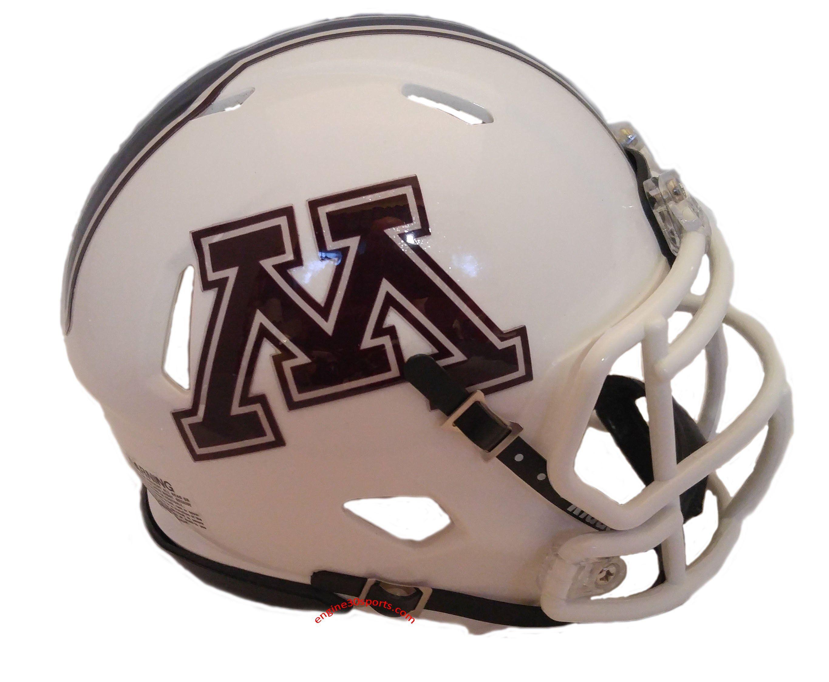 Minnesota Golden Gophers Riddell Speed Mini Helmet 2018 White Football Helmets Minnesota Golden Gophers Helmet
